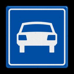 Verkeersbord Autoweg Verkeersbord RVV G03 - Autoweg G03