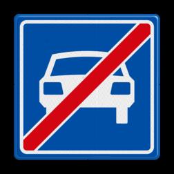 Verkeersbord Einde autoweg Verkeersbord RVV G04 - Einde autoweg G04