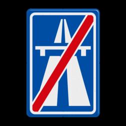 Verkeersbord Einde autosnelweg Verkeersbord RVV G02 - Einde autosnelweg G02