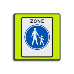 Verkeersbord Start voetgangerszone Verkeersbord RVV G07zbf - Start voetgangerszone G07zbf