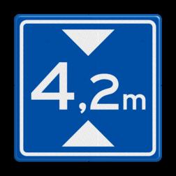 Verkeersbord Maximale doorrijhoogte Verkeersbord RVV L01 - Maximale doorrijhoogte L01