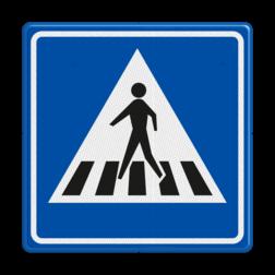 Verkeersbord Voetgangers oversteekplaats / zebrapad Verkeersbord RVV L02 - Voetgangers oversteekplaats / zebrapad L02