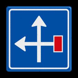 Verkeersbord Voorwaarschuwing doodlopende weg Verkeersbord RVV L09-4l - Doodlopende weg - voorwaarschuwing L09