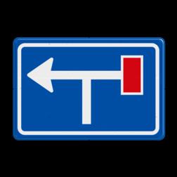 Verkeersbord Voorwaarschuwing rechts doodlopende weg Verkeersbord RVV L09-1rt- Doodlopende weg - voorwaarschuwing L09