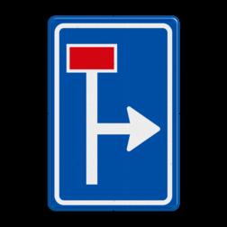 Verkeersbord Voorwaarschuwing doodlopende weg Verkeersbord RVV L09-1r - Doodlopende weg - voorwaarschuwing L09