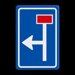 Verkeersbord Voorwaarschuwing rechtdoor doodlopende weg Verkeersbord RVV L09-1l - Doodlopende weg - voorwaarschuwing L09
