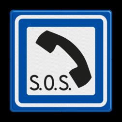Verkeersbord Noodtelefoon Verkeersbord RVV L16 - Noodtelefoon L16
