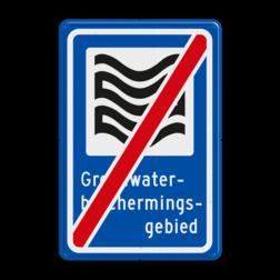 Verkeersbord Deze borden geven aan dat je een Grondwaterbeschermingsgebied uit gaat. Verkeersbord RVV L305e - Grondwaterbeschermingsgebied - einde L305e