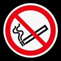 Vloersticker - Roken niet toegestaan vloersticker, verboden, roken, verboden, vuur, anti-slip
