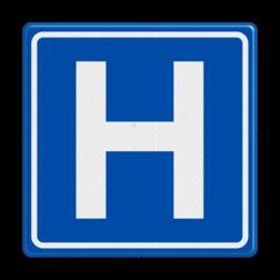 Verkeersbord Hospitaal Verkeersbord RVV BW101 Hospitaal