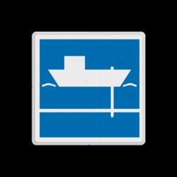Scheepvaartbord Toestemming gebruik te maken van spudpalen aan de zijde van de vaarweg waar het bord is geplaatst Scheepvaartbord BPR E. 6.1 - Toestemming gebruik te maken van spudpalen E. 6.1 spud, spudpalen schip, water, E61, aanwijzingstekens, aanwijzingsborden, waterweg, waterwegen, scheepvaarttekens, verkeerstekens,