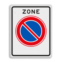 Verkeersbord Start parkeerverbod zone Verkeersbord RVV E01zb - parkeerzone - Start parkeerzone E01zb