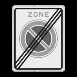 Verkeersbord Einde parkeerzone Verkeersbord RVV E01ze - einde parkeerzone - Einde parkeerzone E01zbe