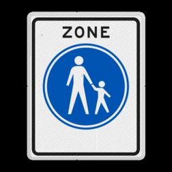 Verkeersbord Start voetgangerszone Verkeersbord RVV G07zb - Start voetgangerszone G07zb