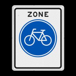 Verkeersbord Start fietsers zone Verkeersbord RVV G11zb - Start fietszone G11zb
