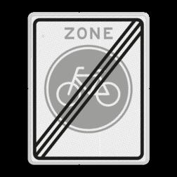 Verkeersbord Einde fietsers zone Verkeersbord RVV G11ze - Einde fietszone G11ze