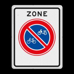 Verkeersbord Zone parkeerverbod voor (brom-)fietsers Verkeersbord RVV E03zb - parkeerverbod voor (brom-)fietsers E03zb