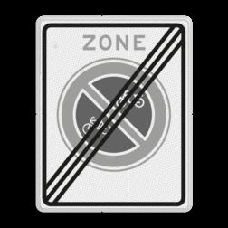 Verkeersbord Einde parkeerverbod voor (brom-)fietsers Verkeersbord RVV E03zb - parkeerverbod voor (brom-)fietsers E03ze