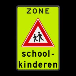 Verkeersbord Schoolzone Verkeersbord Schoolzone J21 met tekst
