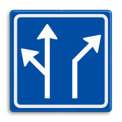 Verkeersbord Voorsorteren Verkeersbord RVV L04-2 - Pijlbord Voorsorteren L04-2-la/rd-ra