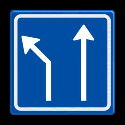 Verkeersbord Voorsorteren Verkeersbord RVV L04-2 - Pijlbord Voorsorteren L04-2-la-rd