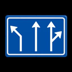 Verkeersbord Voorsorteren Verkeersbord RVV L04-3 - Pijlbord Voorsorteren L04-3-la-rd-rd/ra
