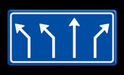Verkeersbord Voorsorteren Verkeersbord RVV L04-4 - Pijlbord Voorsorteren L04-4-la-la-rd-ra