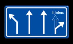 Verkeersbord Voorsorteren Verkeersbord RVV L04-4 - Pijlbord Voorsorteren L04-4-la-rd-rd-lb