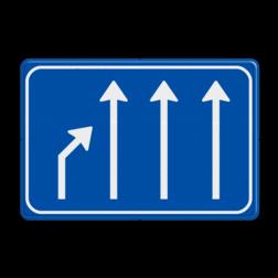 Verkeersbord links einde rijstook Verkeersbord RVV L05-4 einde rijstook L05-4-re-rd-rd-rd