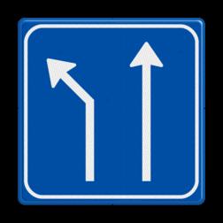 Verkeersbord Splitsing naar links Verkeersbord RVV L06-2 - Pijlbord Splitsing L06-2-li-rd