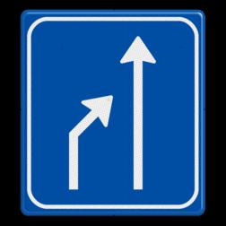 Verkeersbord links einde rijstook Verkeersbord RVV L05-2 einde rijstook L05-2-re-rd