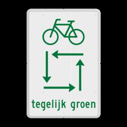 Verkeersbord fietsers tegelijk groen Verkeersbord RVV VR04 VR04