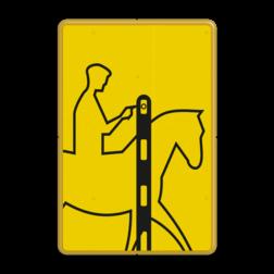 Verkeersbord Drukknop ruiters Verkeersbord RVV VR01b geel/zwart - 200x300mm - Ruiters VR01b