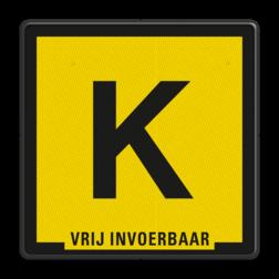 Verkeersbord Kabelbord Verkeersbord Zinkerbord Kabel zwart/geel + tekst OV ZK