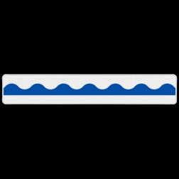 Product Aanduiding van het einde van een looppad. Plank Einde looppad 1200x200mm - klasse 3 SO RS - EL NS, plankje, ProRail