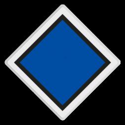 Halteringsbord Markering van de plaats waar de kop van het railvoertuig bij halteren tot stilstand moet komen. Halteringsbord - 9.01 - Reflecterend MB 9.01