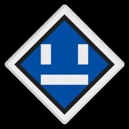 Uitschakelbord Uitschakelen tractiestroom. Uitschakelbord - RS 306a - 500x500 Reflecterend SA RS 306a