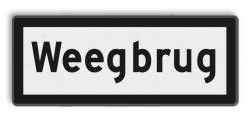 Snelheidsbord De door het getal van de hieronder aangegeven snelheid mag niet worden overschreden totdat de gehele trein de weegbrug is gepasseerd Snelheidsbord Weegbrug - RS 324 - 500x200mm - Reflecterend OB RS 324 Weegbrug