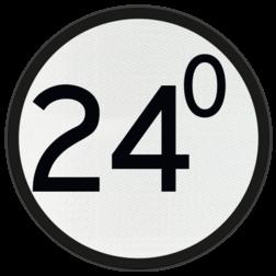 Bord Aanduiding van het beginpunt van de aankondiging van een AKI, AHOB, ADOB of AOB. De cijfers op het bord geven de kilometer- en hectometeraanduiding van de spoorwegovergang aan. Bord Aankondiging overweg - RS 318a - Ø600mm - Lager dan 100 VS RS 318a