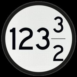 Bord Aanduiding van het beginpunt van de aankondiging van twee, achter elkaar gelegen AKI's, AHOB's, ADOB's of AOB's. De cijfers op de borden geven de kilometer- en hectometeraanduiding van de spoorwegovergangen aan, waarbij het bovenste cijfer betrekking heeft op de verst verwijderde spoorwegovergang. Bord Aankondiging overweg 2 nrs - RS 318b - Ø600mm - 100 of hoger VS RS 318b