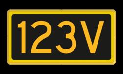 Seinnummerbord Aanduiding van het nummer van een voorsein. Seinnummerbord voorsein - RS - 400x200mm - Reflecterend RS SV