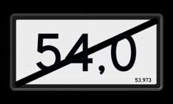 Kilometerbord Kilometer aanduiding einde Kilometerbord (einde) Nieuwe stijl - RS - 600x300mm - Reflecterend KM RS-NKM