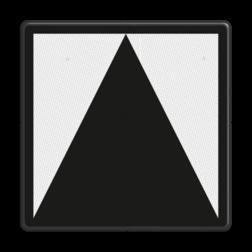 Bord Bord t.b.v. lichtseinen zonder blokfunctie Bord t.b.v. lichtseinen zonder blokfunctie - RS 220/221/222 - Reflecterend RS 220/221/222