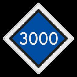Bord bovenleidingspanning vermelding Bord bovenleidingspanning - RS 320a - 500x500 - Reflecterend SA RS 320a