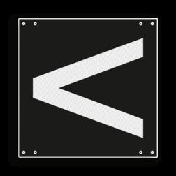 Product Aanduiding van de stand van het wissel: linksleidend Wisselsein linksleidend - RS 253a - 300x300mm - Reflecterend VS RS 253a
