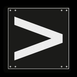 Product Aanduiding van de stand van het wissel: rechtsleidend Wisselsein rechtsleidend - RS 253b - 300x300mm - Reflecterend VS RS 253b
