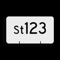Wisselnummerbord Aanduiding van het nummer van een wissel. Wisselnummerbord St vlak dubbelzijdig - RS - 400x225mm - Reflecterend RS WS