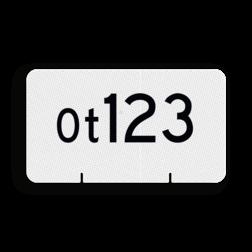 Wisselnummerbord Aanduiding van het nummer van een wissel. Wisselnummerbord Ot vlak dubbelzijdig - RS - 400x225mm - Reflecterend RS WO