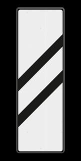 Bakenbord Aanduiding van de nadering van een voorsein. Bakenbord 2 schuine balken - RS 249 - 330x1000mm - Reflecterend BB RS 249 B2