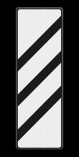 Bakenbord Aanduiding van de nadering van een voorsein. Bakenbord 3 schuine balken - RS 249 - 330x1000mm - Reflecterend BB RS 249 B3